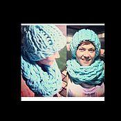 Аксессуары ручной работы. Ярмарка Мастеров - ручная работа шапка и шарф. Handmade.