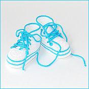 Работы для детей, ручной работы. Ярмарка Мастеров - ручная работа Пинетки-кеды белые. Handmade.