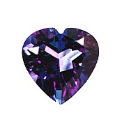 Кабошоны ручной работы. Ярмарка Мастеров - ручная работа Фианит (кубик циркония) 5мм, 7мм фиолетовое сердце. Handmade.