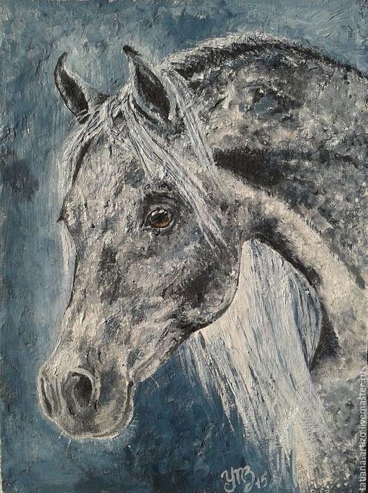 Животные ручной работы. Ярмарка Мастеров - ручная работа. Купить Серебряный. Handmade. Тёмно-бирюзовый, серебряный, серый, лошадь, конь