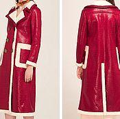 """Одежда ручной работы. Ярмарка Мастеров - ручная работа Дубленка """"Красная"""". Handmade."""