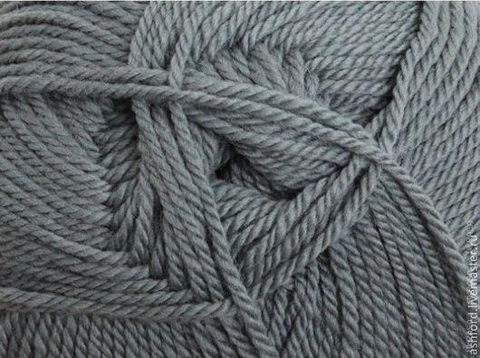 """Вязание ручной работы. Ярмарка Мастеров - ручная работа. Купить Пряжа для вязания,шерсть """"Грифельный""""100g. Handmade. Серый, пряжа меринос"""