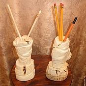 Фен-шуй и эзотерика ручной работы. Ярмарка Мастеров - ручная работа Карандашница из осины. Handmade.