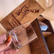 Посуда handmade. Livemaster - original item Glasses with engraving. Handmade.