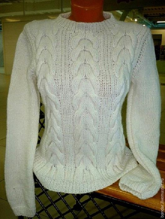 Пуловер с объемными косами от Ирины Ударцевой