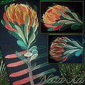 Материалы для творчества handmade. Livemaster - original item Proteus. Design in machine embroidery.. Handmade.