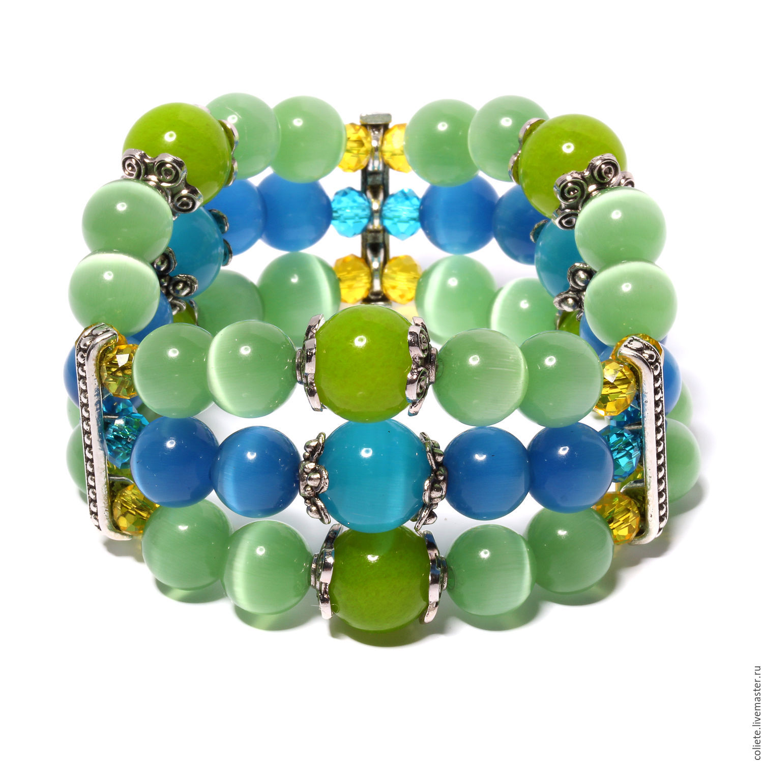 Bracelet from stones 'Triple protection and self-confidence!', Amulet, Moscow,  Фото №1