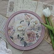 """Доски ручной работы. Ярмарка Мастеров - ручная работа Разделочная доска """"Как свежи были розы"""". Handmade."""