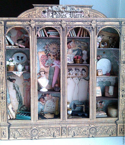 """Кукольный дом ручной работы. Ярмарка Мастеров - ручная работа. Купить Шадоубокс """"Ladies Diary"""". Handmade. Кукольная миниатюра"""