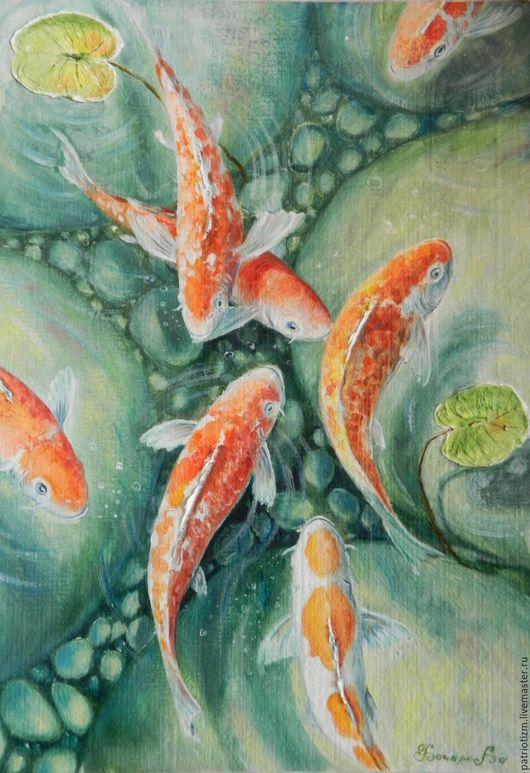 Животные ручной работы. Ярмарка Мастеров - ручная работа. Купить Рыбки. Handmade. Комбинированный, зеленоватый, тина, болотистый, рыбки, аквариум