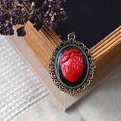 Подвеска ручной работы. Ярмарка Мастеров - ручная работа Камея Сердце из полимерной глины. Handmade.