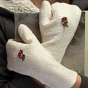 Аксессуары ручной работы. Ярмарка Мастеров - ручная работа Войлочные варежки. Handmade.