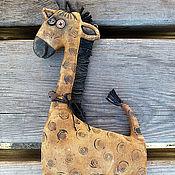 """Куклы и игрушки ручной работы. Ярмарка Мастеров - ручная работа Печеная игрушка """"Жираф"""" в стиле американской примитивной игрушки. Handmade."""