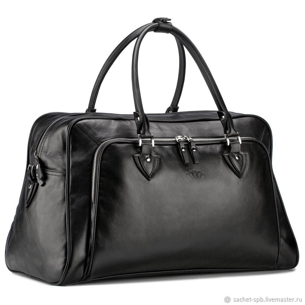 Leather bag 'Brooklyn' (black), Travel bag, St. Petersburg,  Фото №1