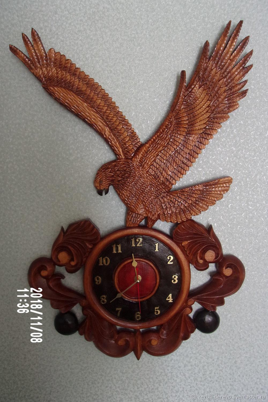 Настенные часы -Охота орла, Часы классические, Москва,  Фото №1