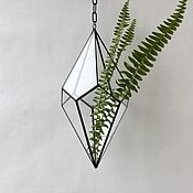Цветы и флористика handmade. Livemaster - original item The Floriana. Floriana geometric pendant with chain, d - 15 cm. Handmade.