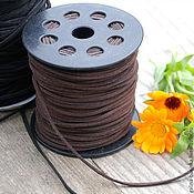 Материалы для творчества handmade. Livemaster - original item Suede cord 3 mm, black. Handmade.