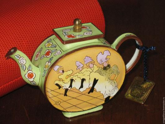 Винтажная посуда. Ярмарка Мастеров - ручная работа. Купить декоративныи чайник The Charlotte di Vita Collections. Handmade. Комбинированный