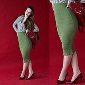 """Одежда ручной работы. Ярмарка Мастеров - ручная работа Вязаная юбка """"Карандаш"""". Handmade."""