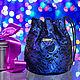 """Женские сумки ручной работы. Ярмарка Мастеров - ручная работа. Купить Кожаная сумка-кисет """"Sweet pouch"""", вечерняя сумка, подарок 2017. Handmade."""