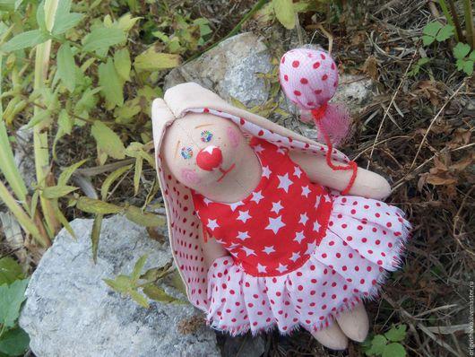 Куклы Тильды ручной работы. Ярмарка Мастеров - ручная работа. Купить Зайка тильда Клоун. Handmade. Ярко-красный, зайка