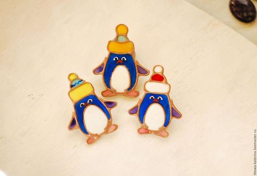 Броши ручной работы. Ярмарка Мастеров - ручная работа. Купить Брошь Пингвинчик. Handmade. Тёмно-синий, пингвинчик, северный полюс
