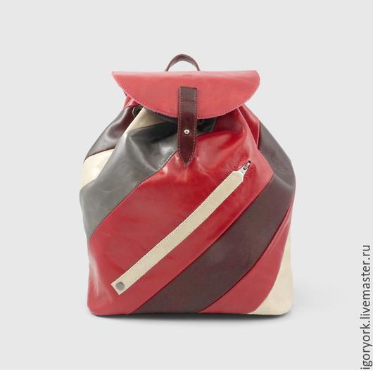 Сумки и аксессуары ручной работы. Ярмарка Мастеров - ручная работа. Купить Кожаный городской рюкзак из линии Forward & Upward. Handmade.