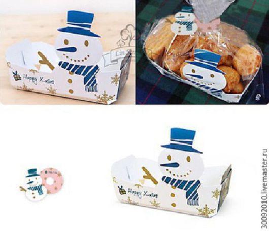 Упаковка ручной работы. Ярмарка Мастеров - ручная работа. Купить Новогодний набор для упаковки подарка.. Handmade. Комбинированный, новогодняя упаковка