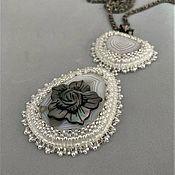 Украшения handmade. Livemaster - original item Pendant: Nail embroidery with beads. Handmade.