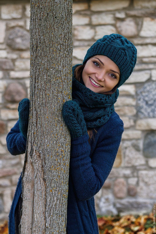 Шарф и шапка для девочки спицами. Работы Тамары Матус 95