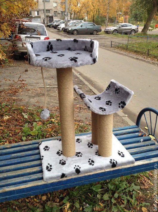 """Аксессуары для кошек, ручной работы. Ярмарка Мастеров - ручная работа. Купить Комплекс-когтеточка """"Снежа"""". Handmade. Когтеточка, домик для кошек"""