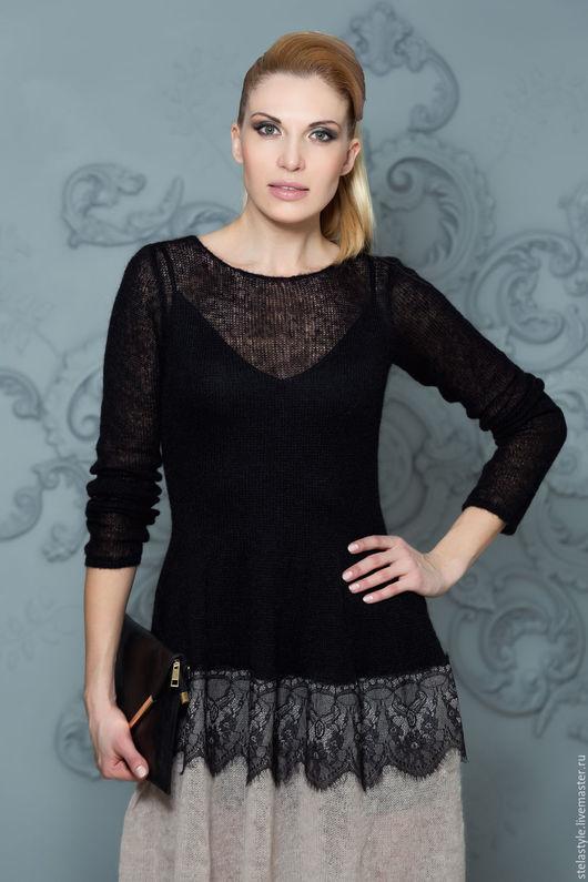 """Платья ручной работы. Ярмарка Мастеров - ручная работа. Купить """" Adele """". Handmade. Черный, черное платье, кружево"""
