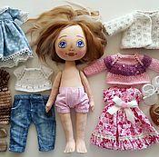 Куклы и игрушки ручной работы. Ярмарка Мастеров - ручная работа Кукла с набором одежды №18. Handmade.