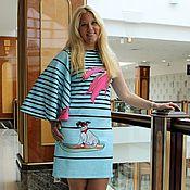 """Одежда ручной работы. Ярмарка Мастеров - ручная работа Платье """" Лови волну"""" из фактурного джерси. Handmade."""