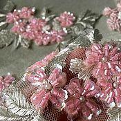 Материалы для творчества ручной работы. Ярмарка Мастеров - ручная работа вышивка бисером розовые цветочки. Handmade.