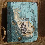 Канцелярские товары ручной работы. Ярмарка Мастеров - ручная работа Морской блокнот. Handmade.