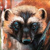 Картины и панно handmade. Livemaster - original item Pictures: Wolverine. Handmade.