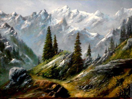Горный пейзаж Южно Казахстана,заповедник Аксу Джабаглы. холст-масло 130х90см