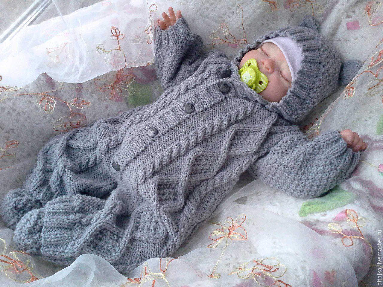 Вязание комбинезон для новорожденного мальчика5