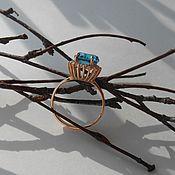 Кольца ручной работы. Ярмарка Мастеров - ручная работа Кольцо из серебра 925 пробы с позолотой. Handmade.