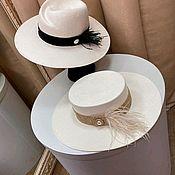 Аксессуары handmade. Livemaster - original item Straw hats. Handmade.