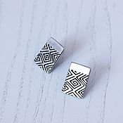 Украшения handmade. Livemaster - original item Earrings-ear-stud a Symbol of life. Handmade.