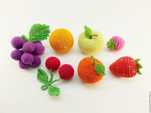 Еда ручной работы. Ярмарка Мастеров - ручная работа. Купить Набор сладких фруктов 7 шт.. Handmade. Комбинированный