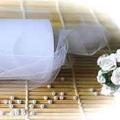 Материалы для творчества ручной работы. Ярмарка Мастеров - ручная работа Ткань сетка, ФАТИН белая. Handmade.