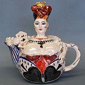 """Посуда ручной работы. Ярмарка Мастеров - ручная работа """"Королева"""".Чайник фарфоровый.. Handmade."""