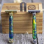 Косметика ручной работы handmade. Livemaster - original item Shaving machine planet Earth in a wooden case. Handmade.