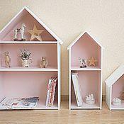 Для дома и интерьера ручной работы. Ярмарка Мастеров - ручная работа Комплект из  трёх домиков-полок. Handmade.