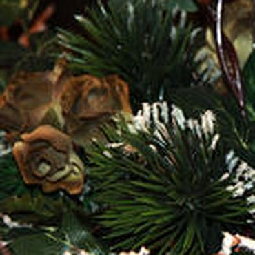 Подарки к праздникам ручной работы. Ярмарка Мастеров - ручная работа Новогодняя интерьерная композиция. Handmade.