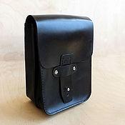 Сумки и аксессуары handmade. Livemaster - original item Waist bag, 2 sections, black. Handmade.