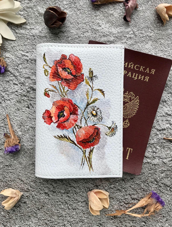 Обложка на документы «маки», Обложки, Москва,  Фото №1